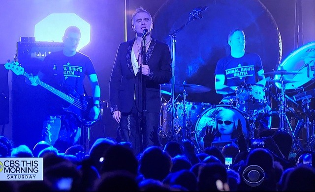 News – Morrissey on CBS This Morning Saturday Sessions (16 Dec.  2017)