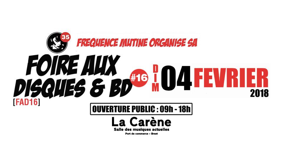 News – Foire aux disques et BD – Fréquence Mutine – 4/02/18 à Brest