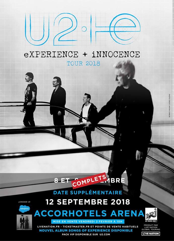 News – U2, une troisième date en France.