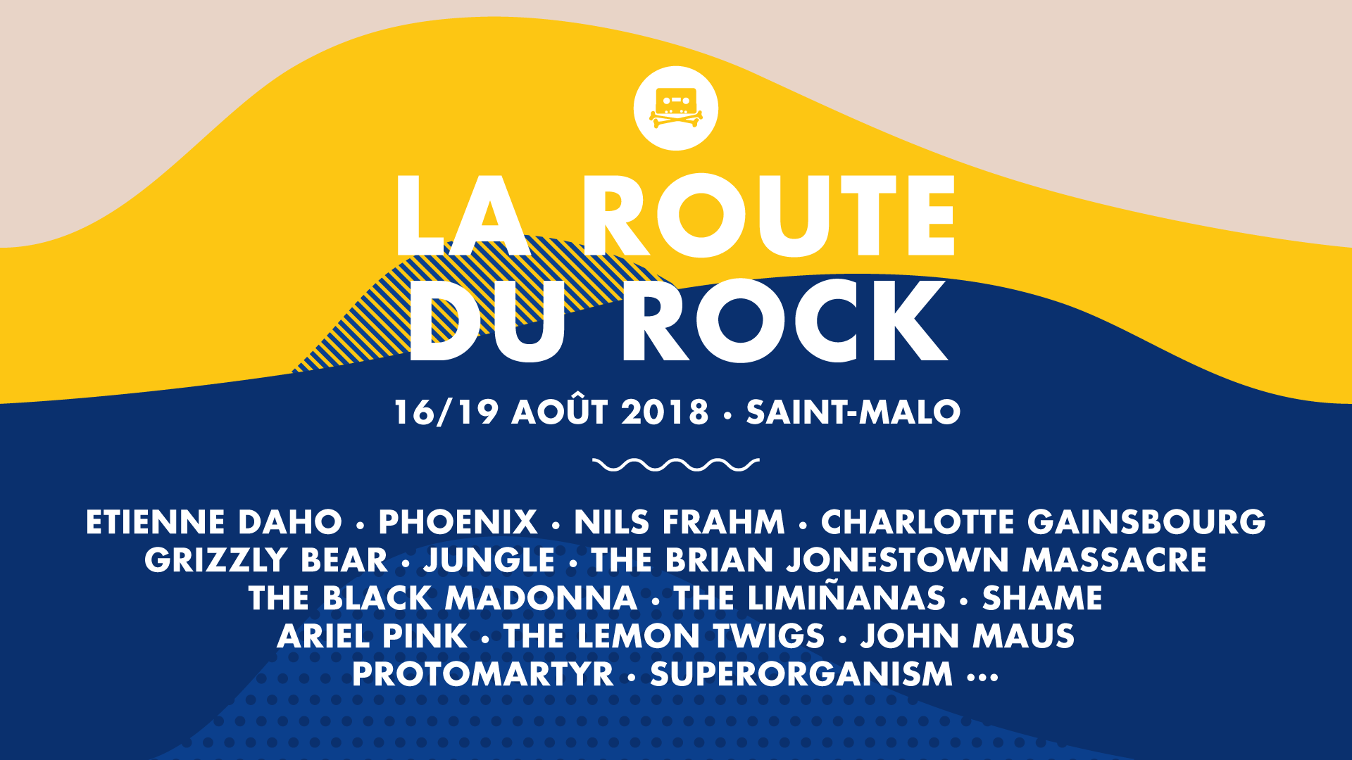 Festival – La Route du Rock, Collection Eté 2018, Fort de St Père – St Malo
