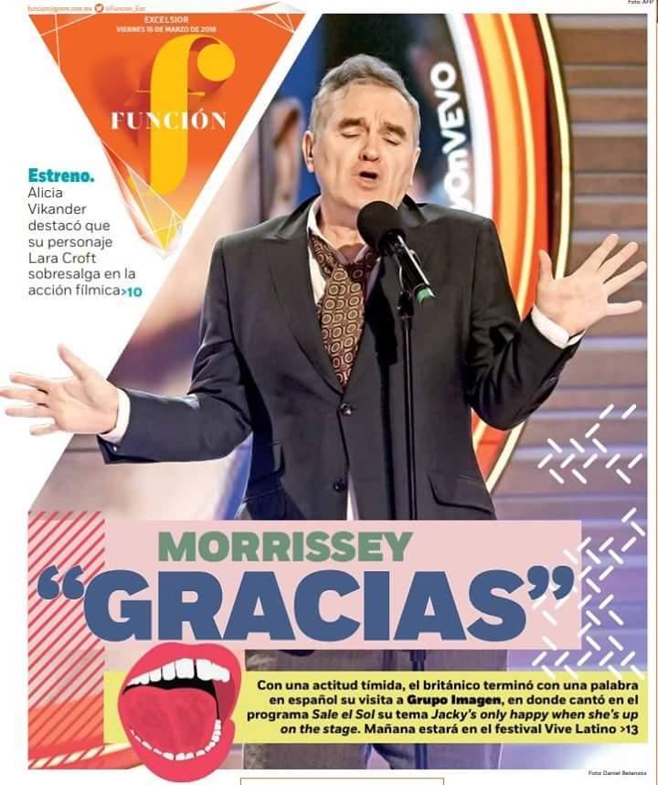 News – Morrissey : Vive Latino 2018