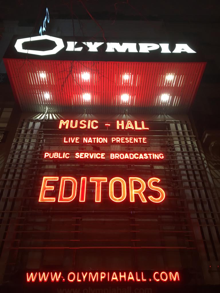 Live Report by Tuco – Editors : Olympia, Paris – 23/03/18