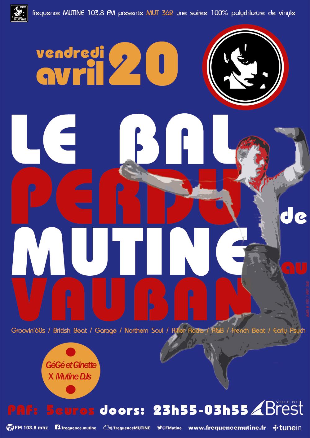 News – Le Bal Perdu De Mutine – 20 Avril 2018 – Vauban – Brest