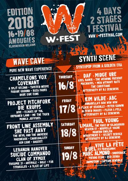 News – W-Festival 16-19 août 2018, Amougies, Belgique