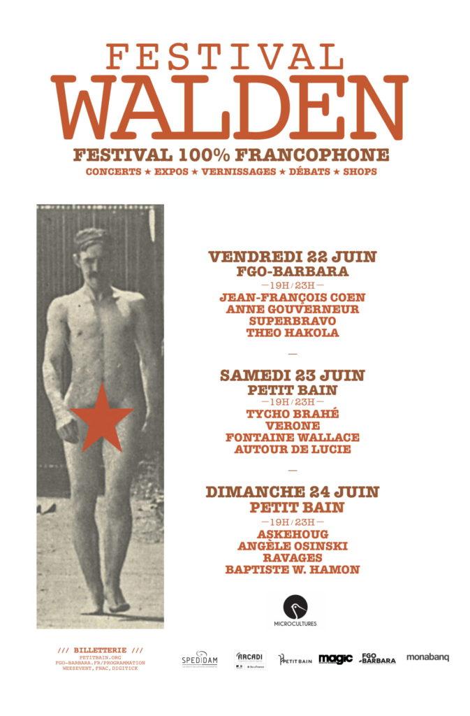 Festival – Festival Walden : 22 au 24 juin 2018 – Paris