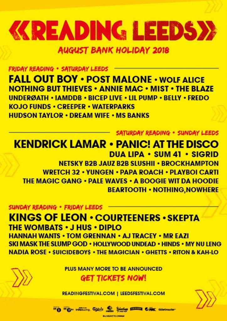 Festival : Reading & Leeds Festival 2018