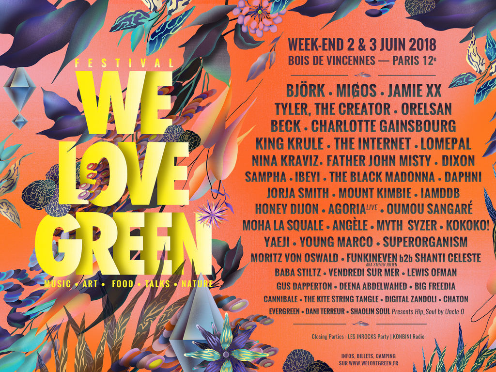 News – Festival We Love Green 2018, Paris.