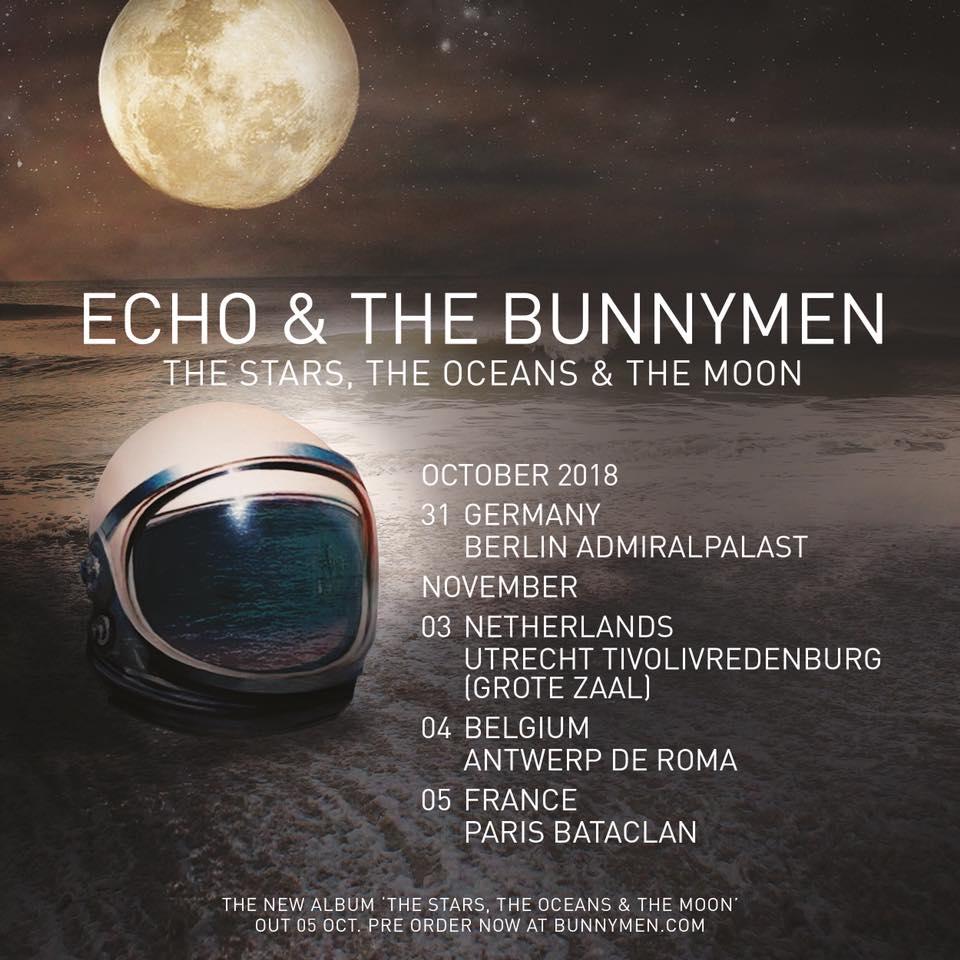 Bientôt En Concert Chez Nous – Echo & The Bunnymen, The Sherlocks,Tigers And Flies