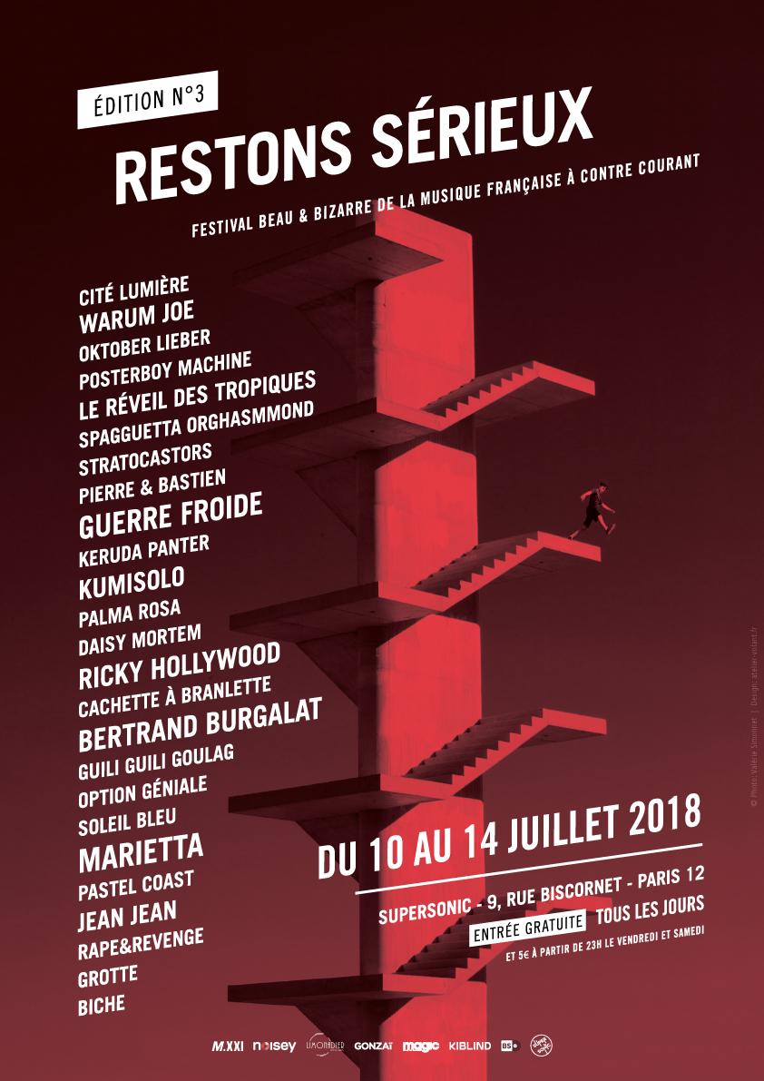 Festival – RESTONS SERIEUX du 10 au 14 juillet 2018, au Supersonic, Paris