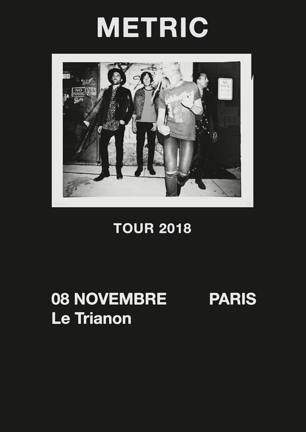 Bientôt En Concert Chez Nous – Metric, The Pretty Things, A Place to Bury Strangers