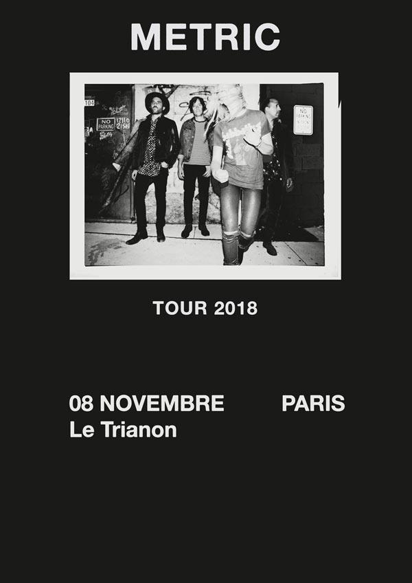 Bientôt En Concert Chez Nous – Metric, The Pretty Things, A Place to Bury Strangers