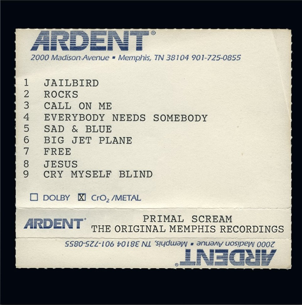 News – Primal Scream – Give Out – The Original Memphis Recordings.