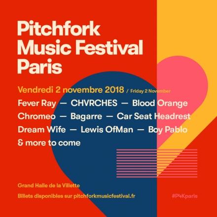Festival – Pitchfork Music Festival, du 1er au 3 novembre 2018, Paris