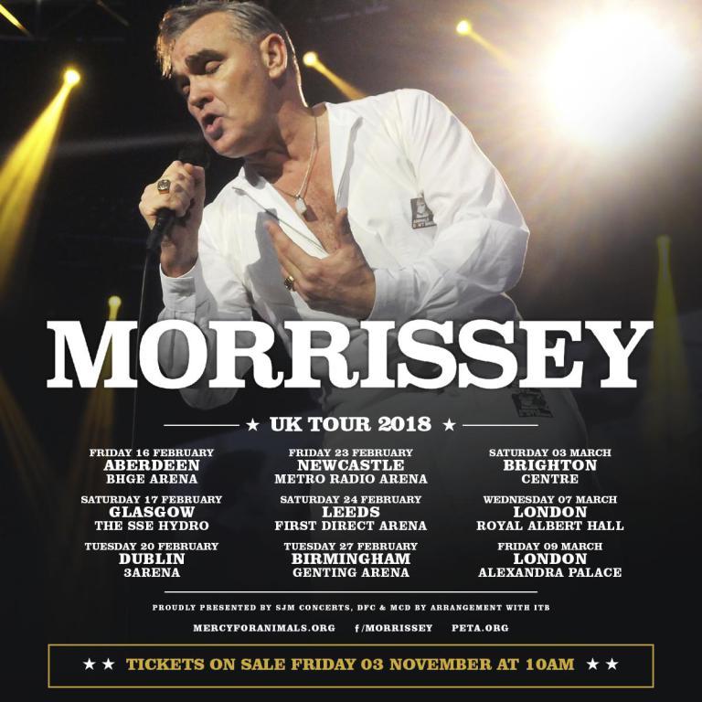 Live de la semaine – Morrissey – First Direct Arena, Leeds, UK (24/02/18)