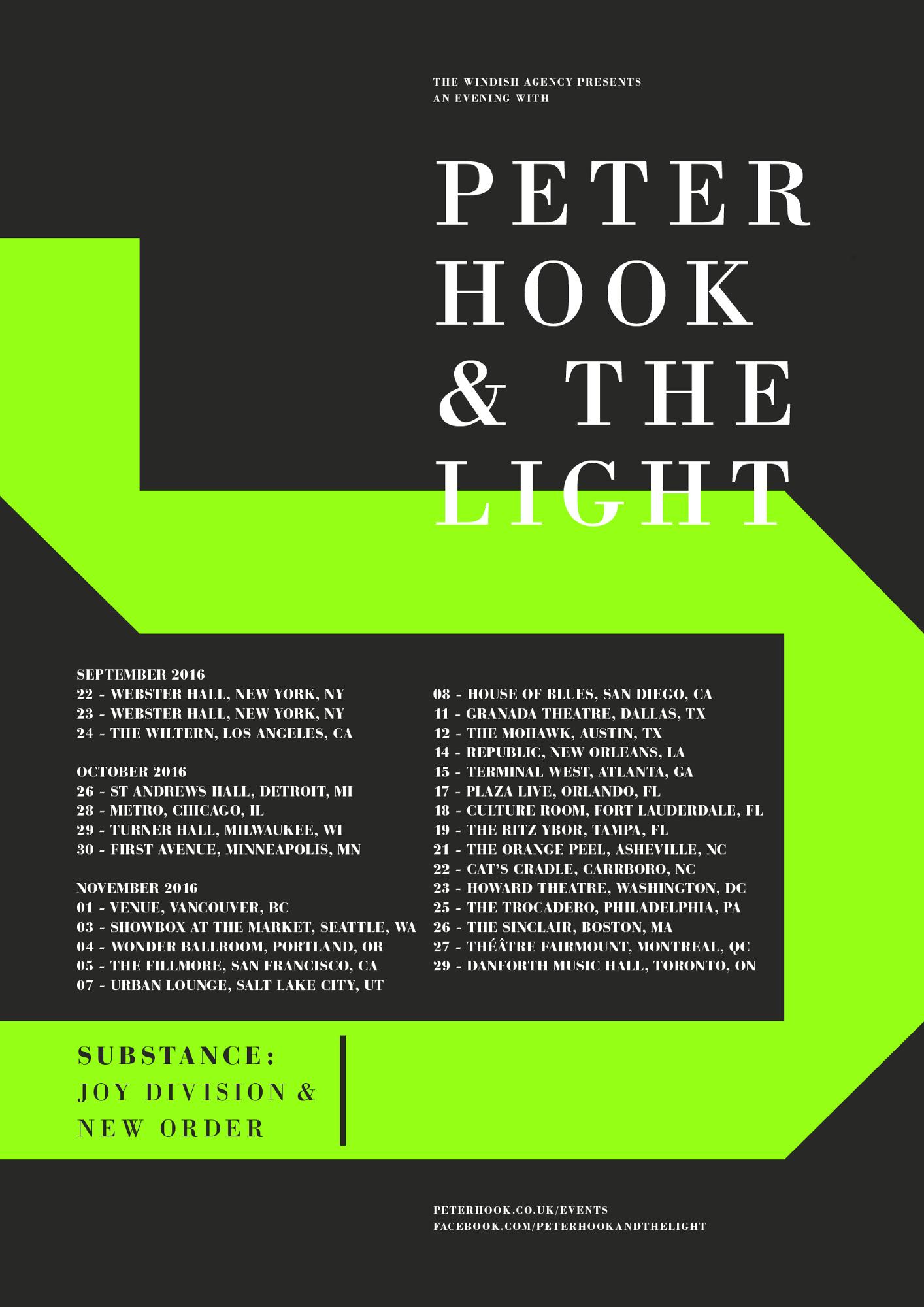 Bientôt En Concert Chez Nous – Peter Hook & The Light, Hilary Woods, White Lies