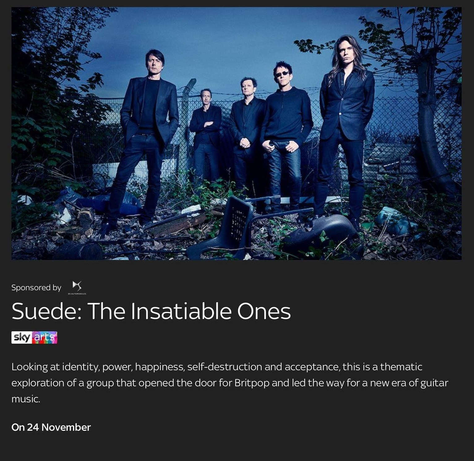 News – Suede – The Insatiable Ones – Un documentaire exclusif