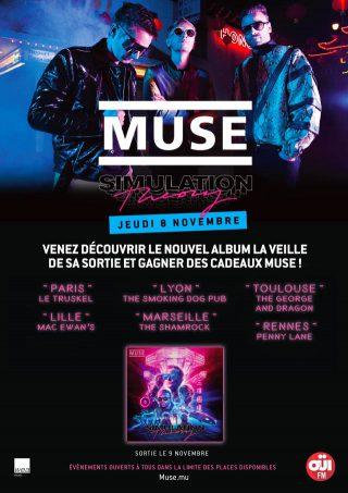 News – Des soirées d'écoute de Simulation Theory de Muse en avant-première