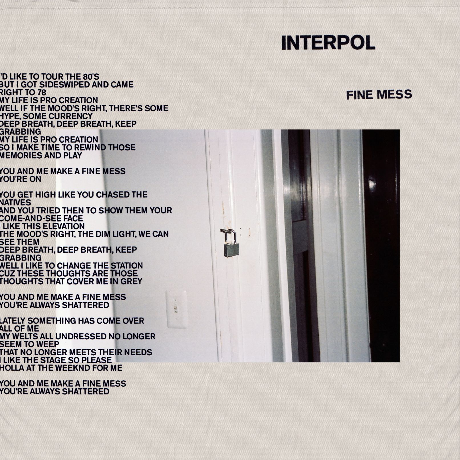 News – Interpol – Fine Mess