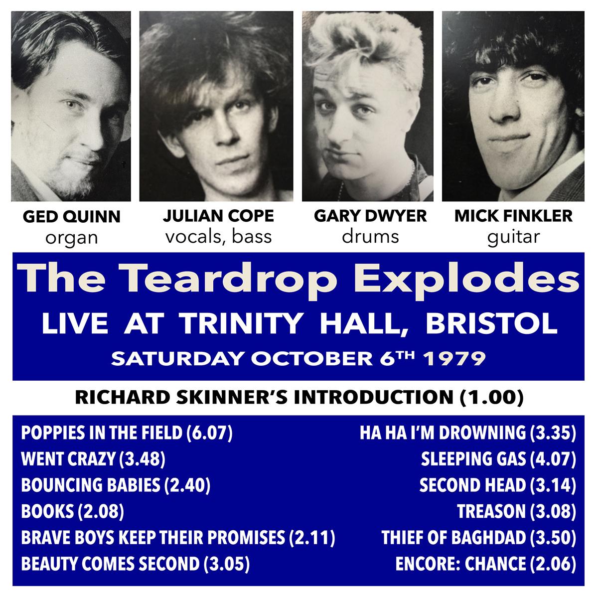 Le Live de la semaine – The Teardrop Explodes – Trinity Hall – Bristol
