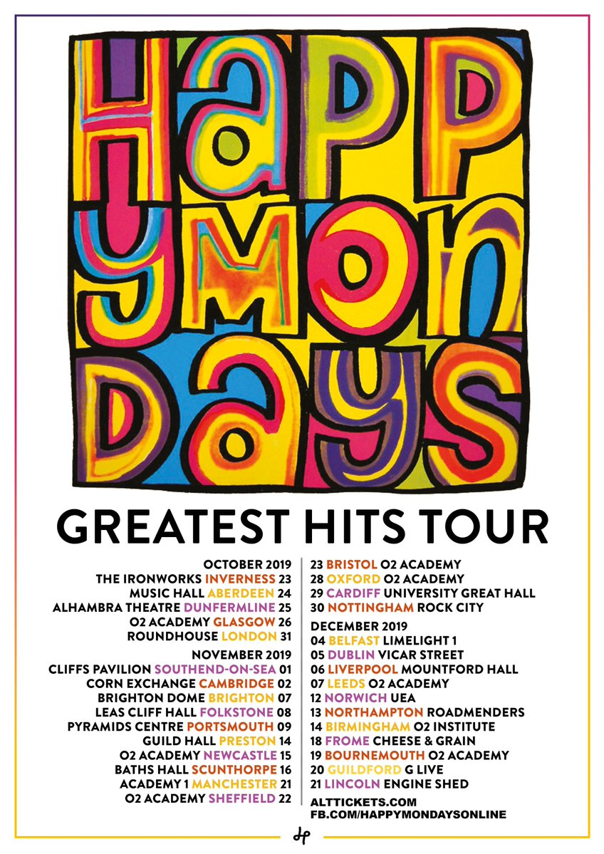 News – Happy Mondays – Greatest Hits Tour