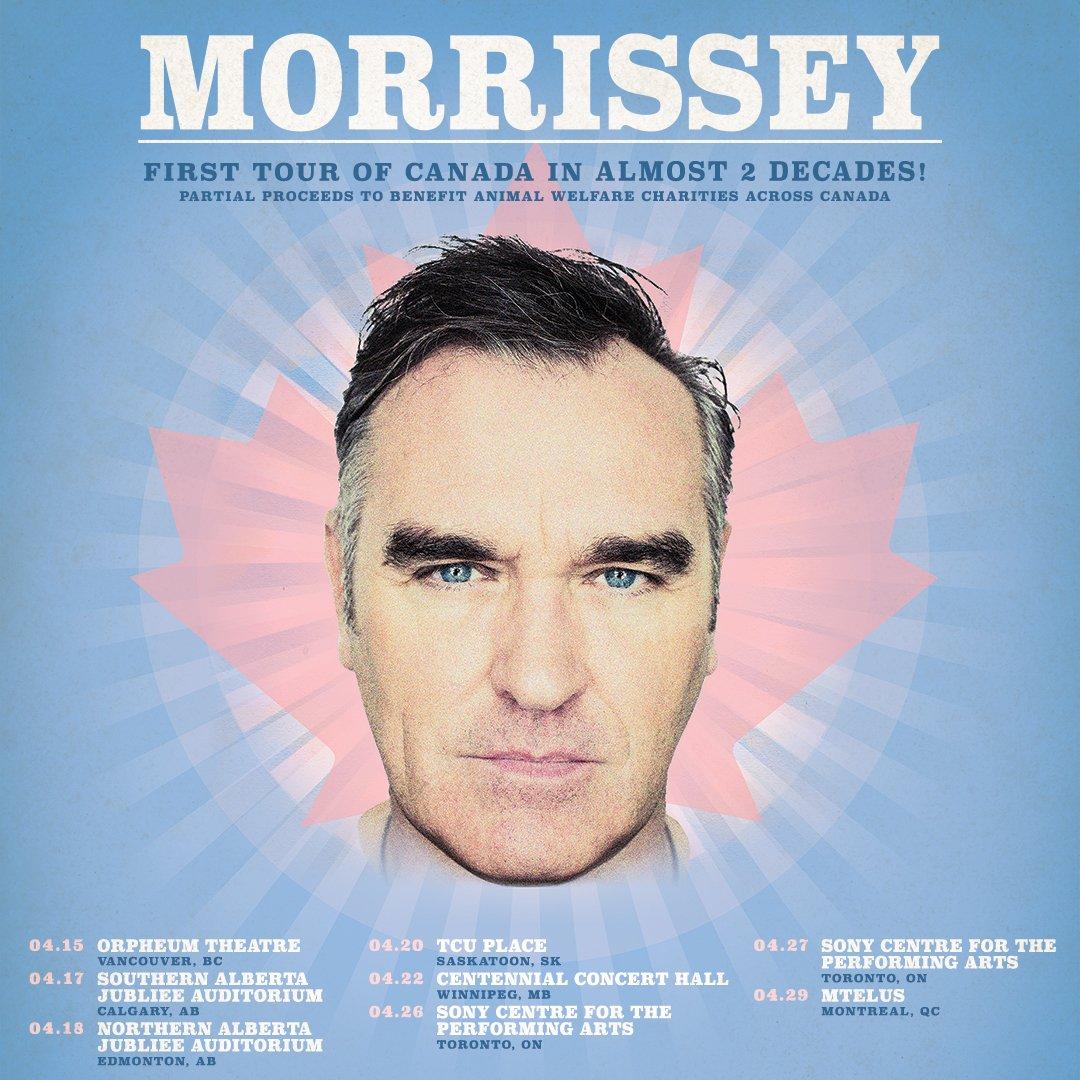 News – Morrissey en tournée au Canada