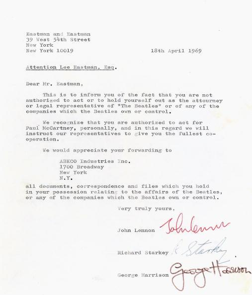 Curiosities – Deux lettres préfigurant la séparation des Beatles aux enchères