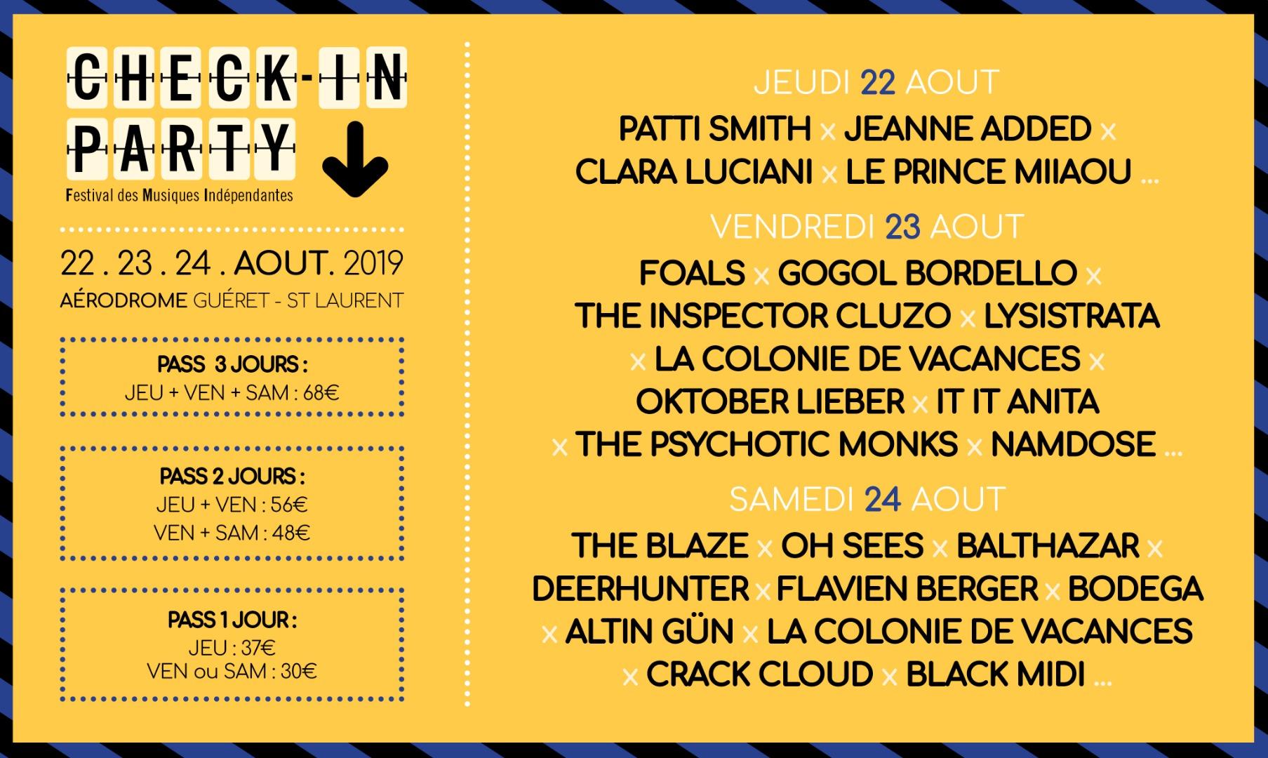 Festival – Festival Check In Party – 2019