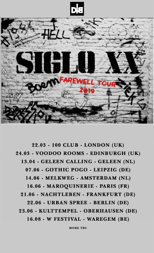 News – Siglo XX – The Farewell Tour 2019
