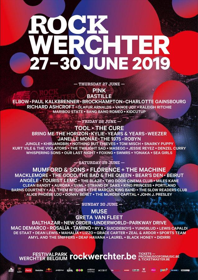 Festival – Rock Werchter – Affiche 2019