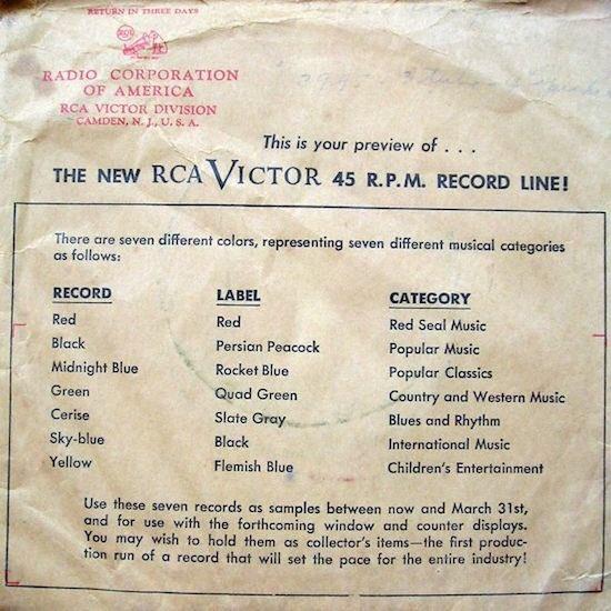 Mr Erudit – RCA Victor publiait ses premiers 45t en 1949