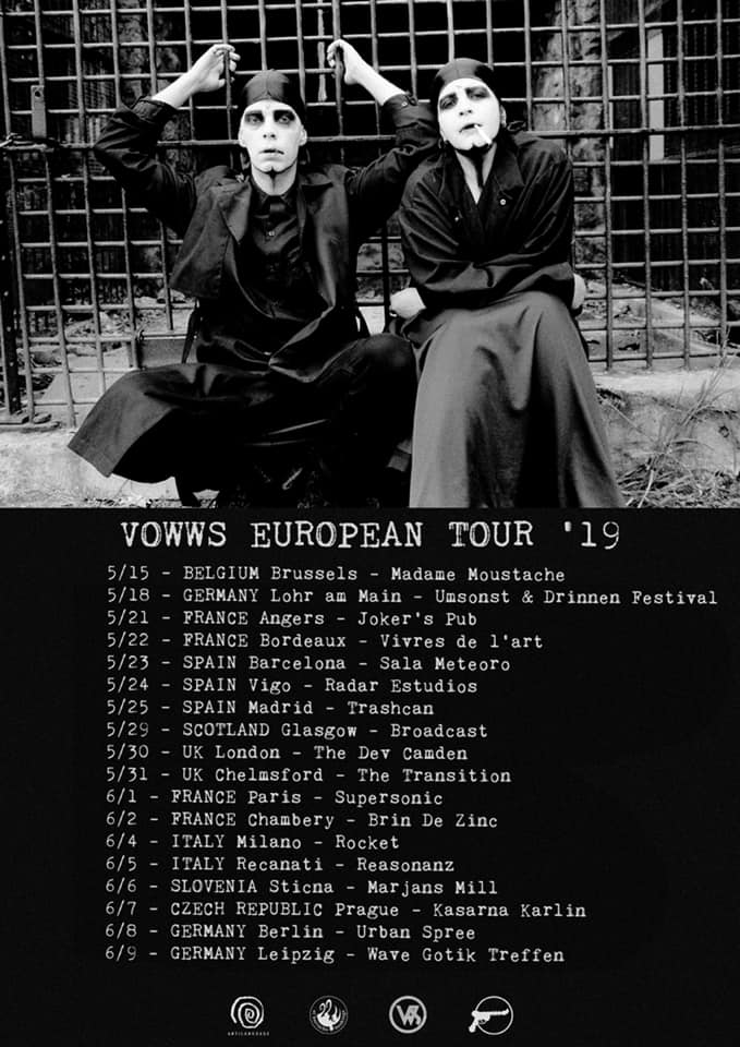News – VOWWS en tournée en Europe.