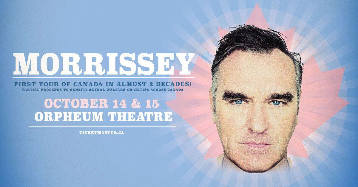 News – Morrissey – Annulation de deux dates de sa tournée au Canada