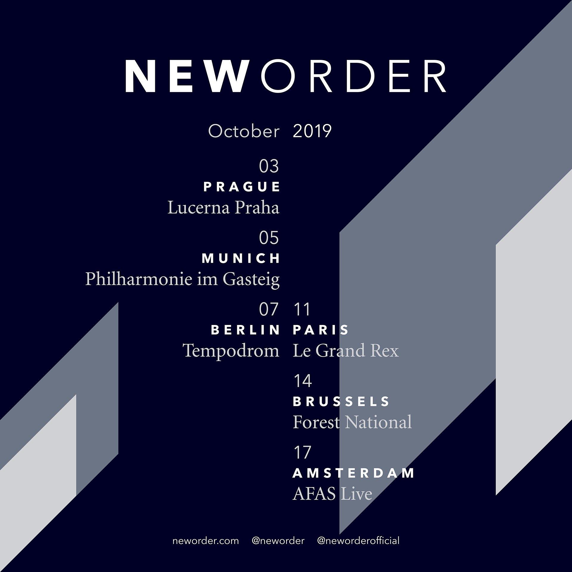 Bientôt En Concert Chez Nous – New Order – Grand Rex – Paris