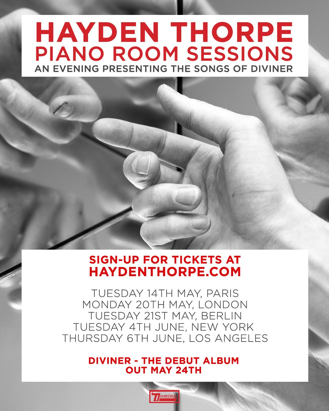 News – Hayden Thorpe – Sessions Piano Room