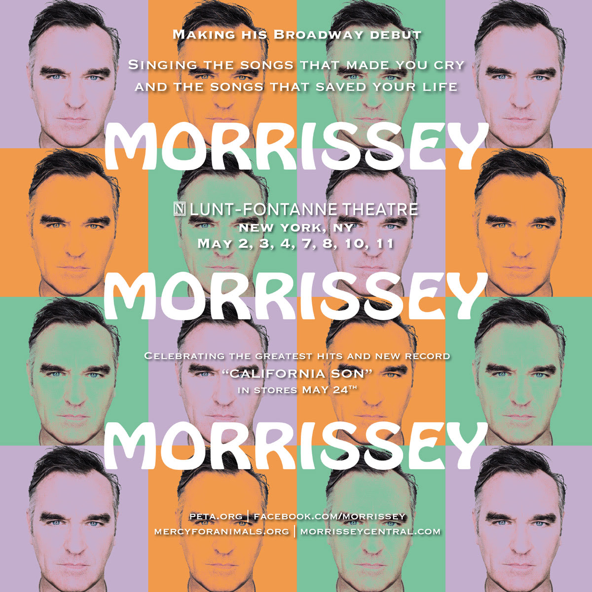 Live – Morrissey on Broadway – Opening Night Complete Show – 02/05/19