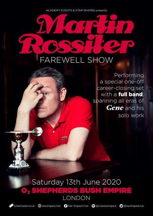 News – Martin Rossiter – Gene – Farewell Show