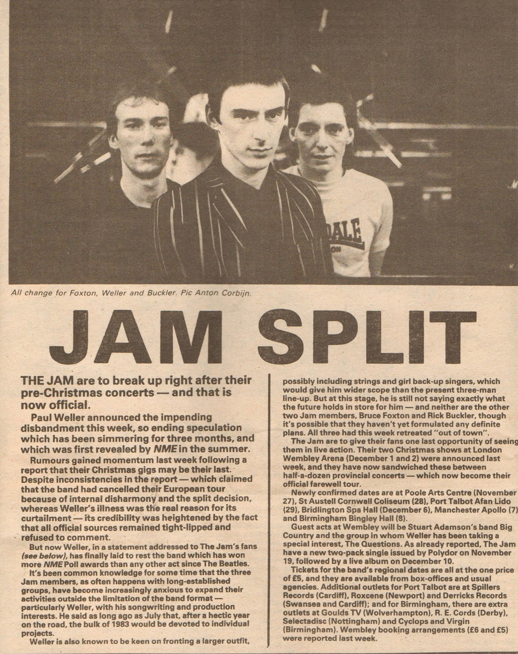 Mr Erudit – The Jam Split – Oct 1982