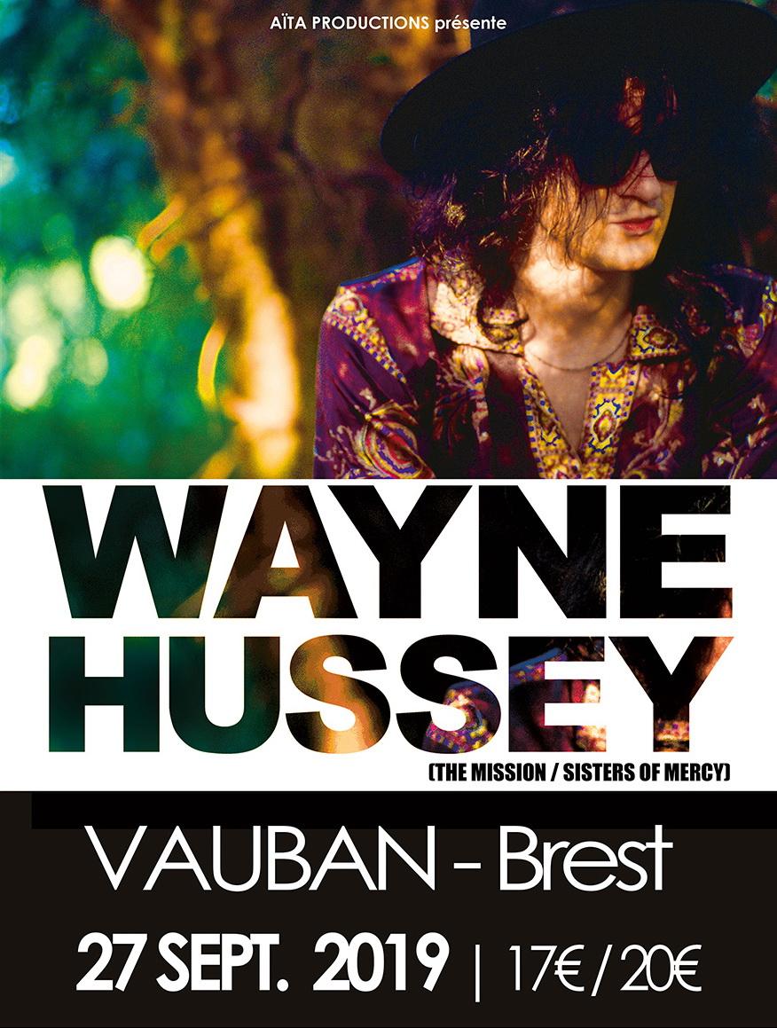 Live Report by Romu – Wayne Hussey – Cabaret Vauban Brest – 27/09/19
