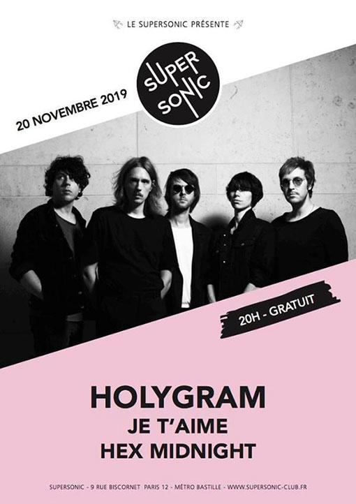 Bientot En Concert Chez Nous – Holygram, Je T'Aime, Hex Midnight