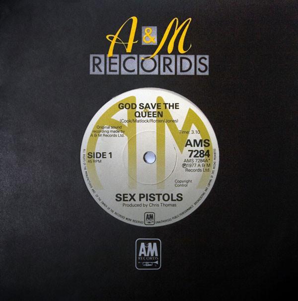 Curiosities – Sex Pistols – God Save The Queen – Un record aux enchères