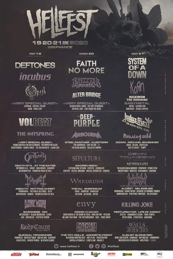Festival – Hellfest 2020 – La programmation de la 15e édition