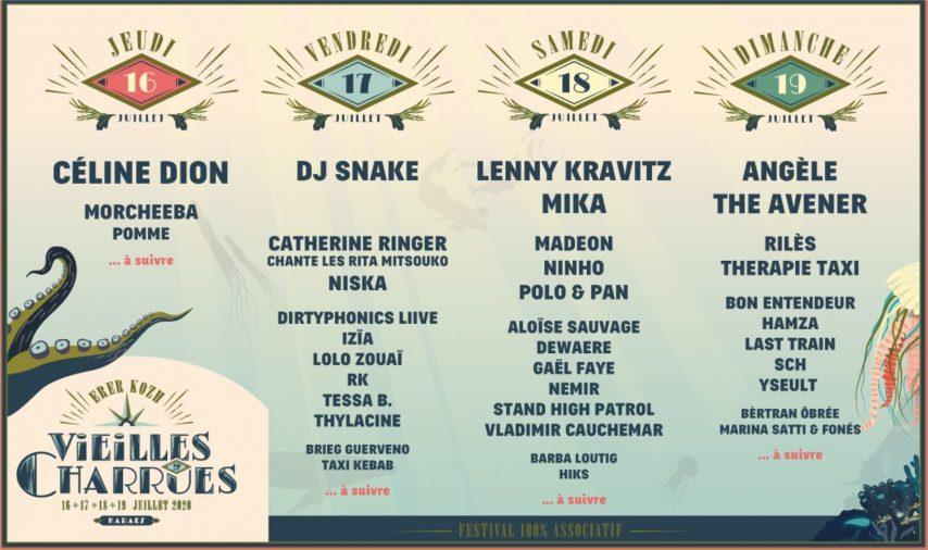 Festival – Festival Les Vieilles Charrues 2020 – Programmation