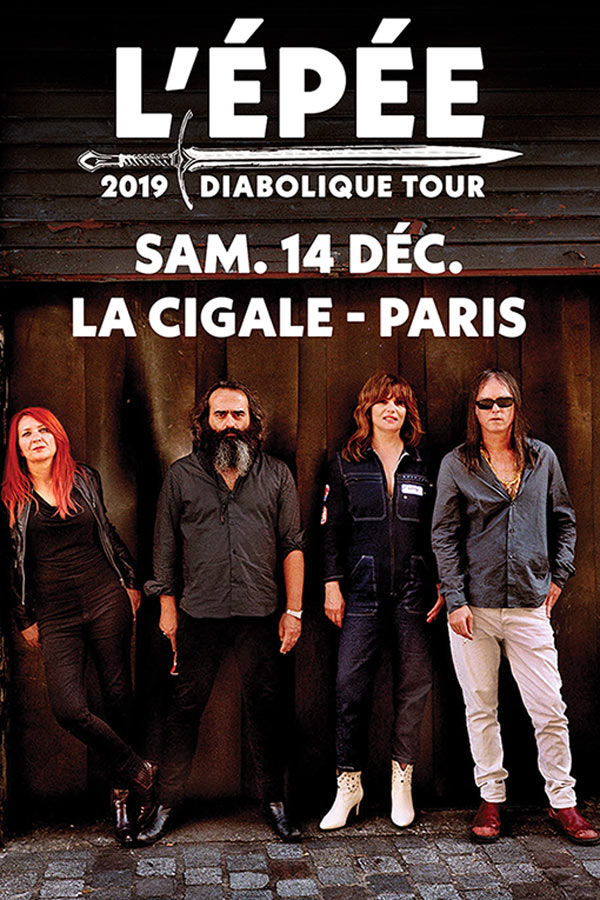 Live Report by Tuco – L' Épée – La Cigale – Paris – 14/12/19