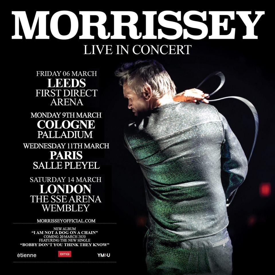 Bientôt En Concert Chez Nous – Morrissey European & UK 2020 tour dates