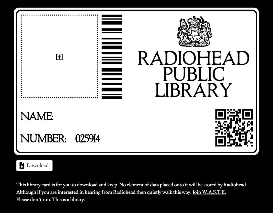 News – Radiohead – Radiohead Public Library