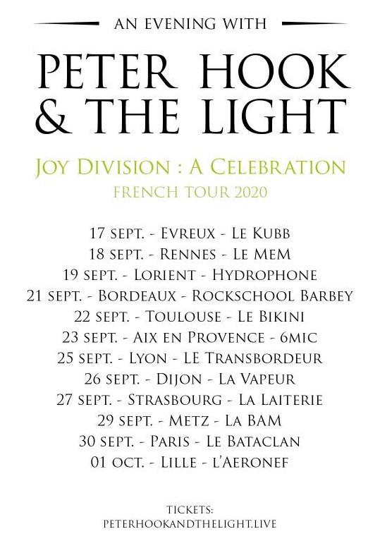 Bientôt En Concert Chez Nous – Peter Hook & The Light
