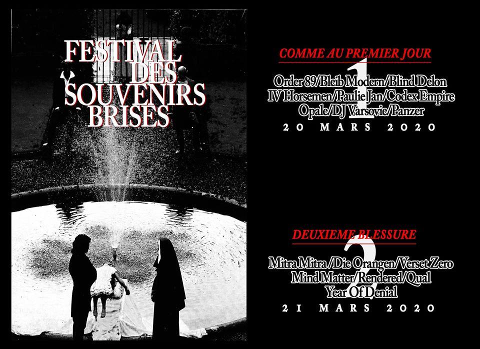 Festival – Festival des Souvenirs Brisés – Du Vendredi 20 Mars 2020 au Dimanche 22 Mars 2020