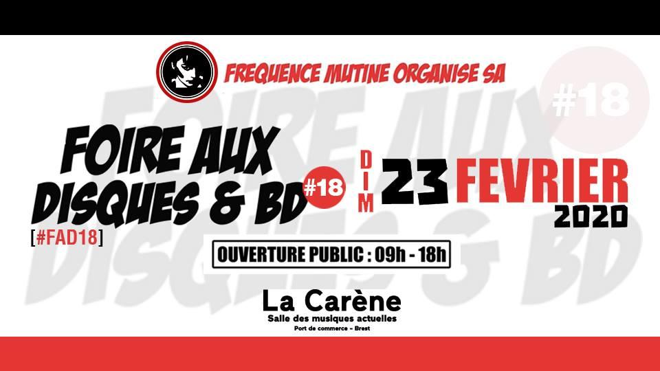 News – Fréquence MUTINE – Foire aux Disques et Bandes Dessinées 2020 – Brest