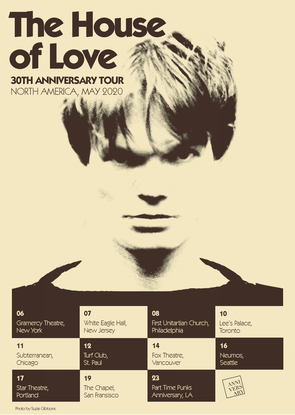 News – The House Of Love – Une tournée en Amérique du Nord