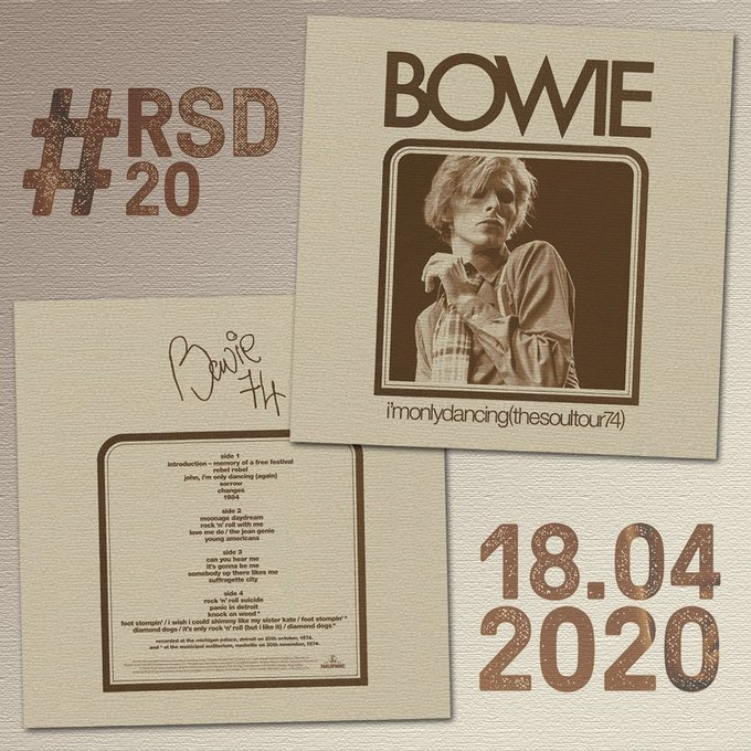 News – Bowie – I'm Only Dancing (The Soul Tour 74) – Record Store Day